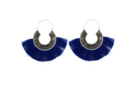 Tassel Hoops - Blue