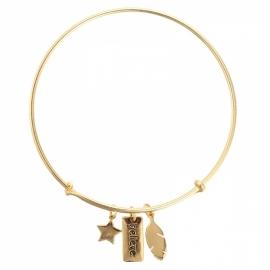 Believe Bracelet - Gold