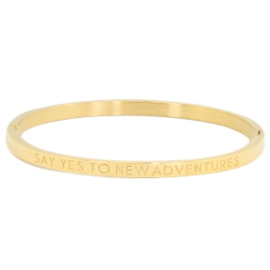 Say Yes To New Adventures - Gold