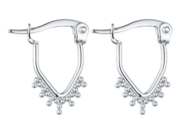 Earrings Triangle Dots - Silver