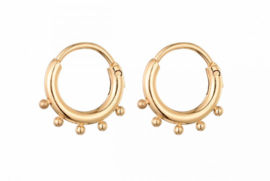 Earrings Dots Rings - Gold