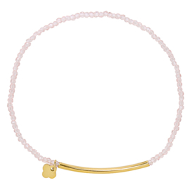 Crystal Beads Bar - Pink