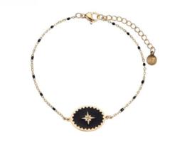 Enamel Bracelet Star - Black