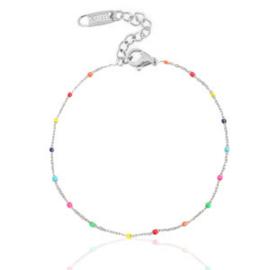 Ankle Bracelet Rainbow - Silver