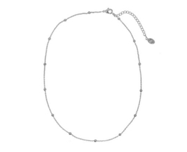 Cute Beads Necklace - Silver