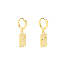 Fossil Earrings - Gold