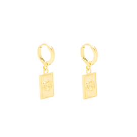 Earrings Flower - Gold