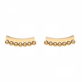 Earrings Dots Bar - Gold