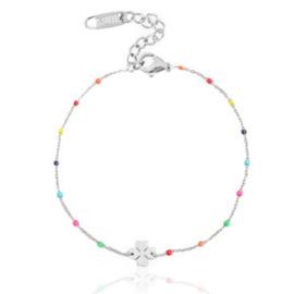 Bracelet Clover Rainbow - Silver