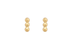 Triple Dots Studs - Gold