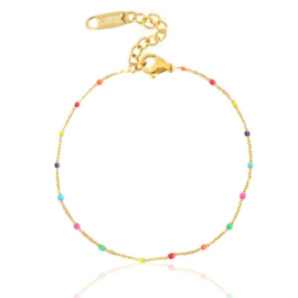 Ankle Bracelet Rainbow - Gold