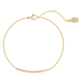 Bracelet Bowed Bar - Gold