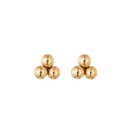 Earrings Triple Dots - Gold