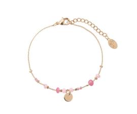 Coin Bracelet - Pink