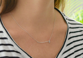 Bar Star Necklace - Silver
