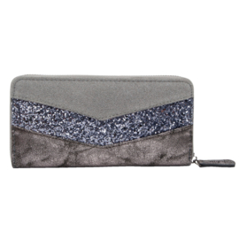Metallic Wallet - Grey