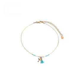 Ankle Bracelet Cross - Blue / Pink