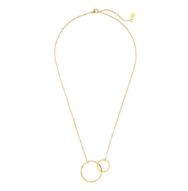 Double Ring Necklace - Gold
