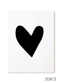ZOEDT Kaartje - Black Heart