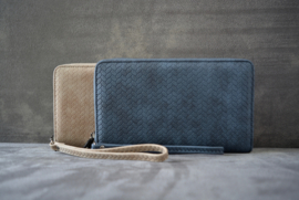 Wave Wallet - Blue/Beige