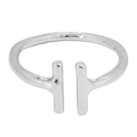 Ring Double Bar - Silver