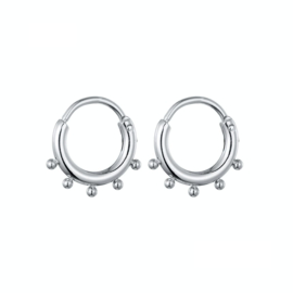 Earrings Dots Rings - Silver
