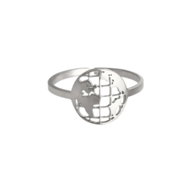 Ring Around The Globe - Silver