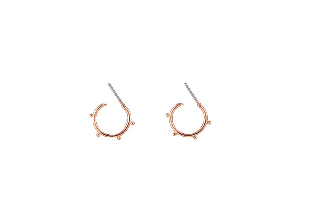 Open Tiny Points Hoops - Rosé