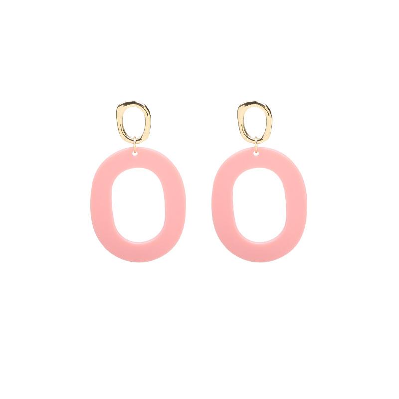 Earrings Funky Summer - Gold/Pink