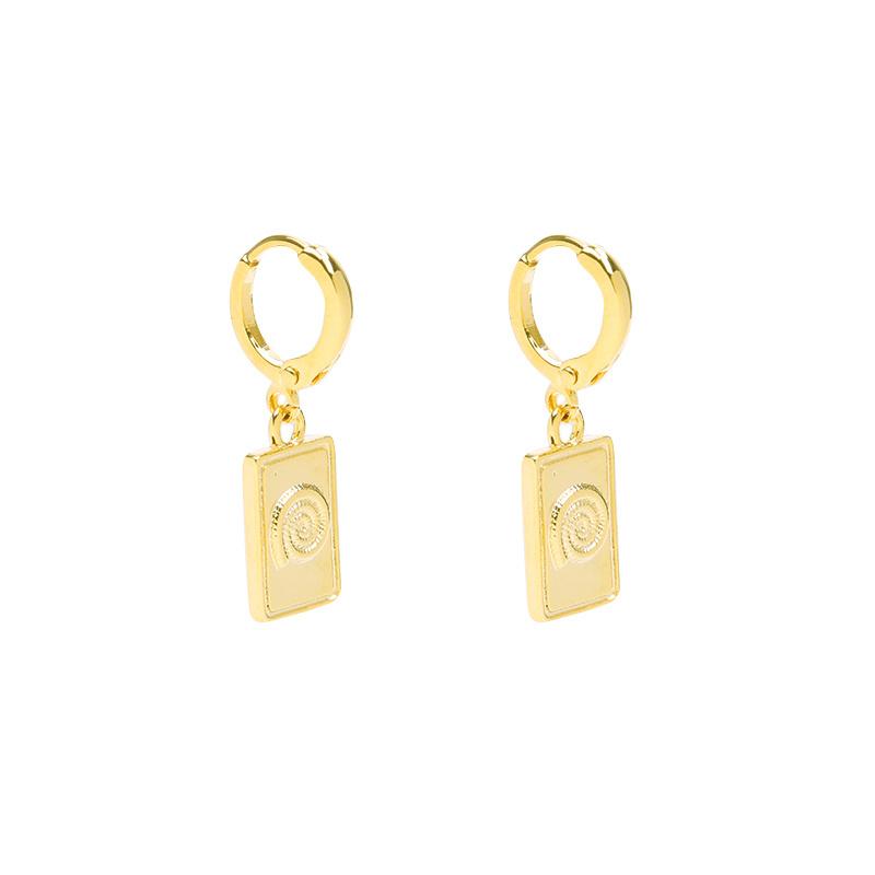 Fossil Earrings - Gold