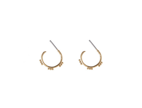 Open Sweet Dots Hoops - Gold