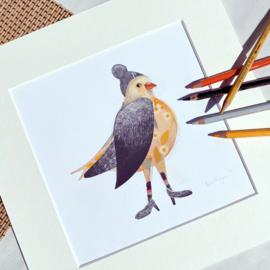 Original Art ' Happy Bird'