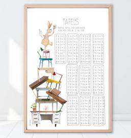 Gein Konijn poster 'Tafels'