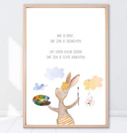 Gein Konijn poster 'Kleur'