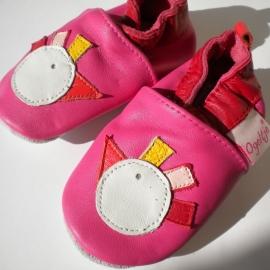 Babyslofjes donker roze