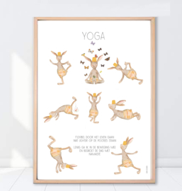 Gein Konijn poster Yoga