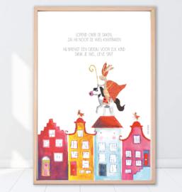 Gein Konijn Sinterklaas ' Over de daken'