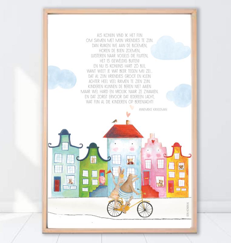 Gein Konijn poster 'berenjacht'