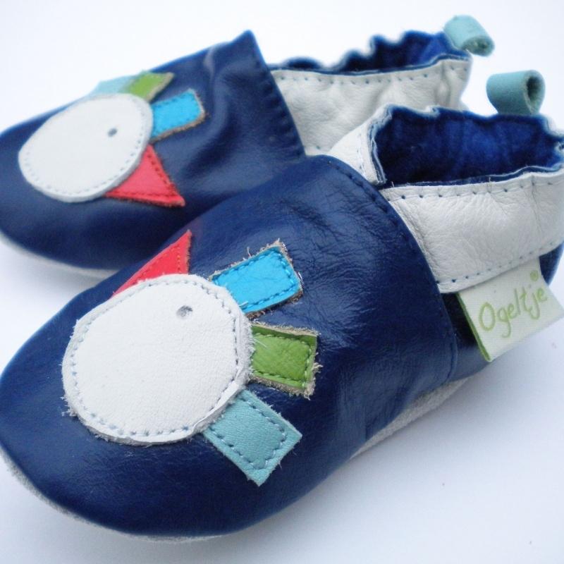 Babyslofjes donker blauw