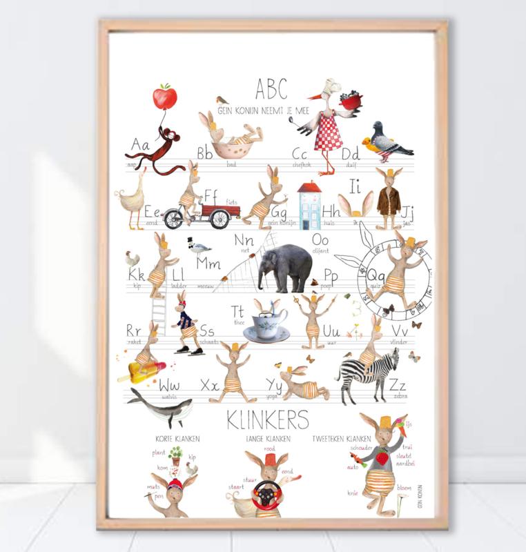 Gein Konijn poster 'ABC'