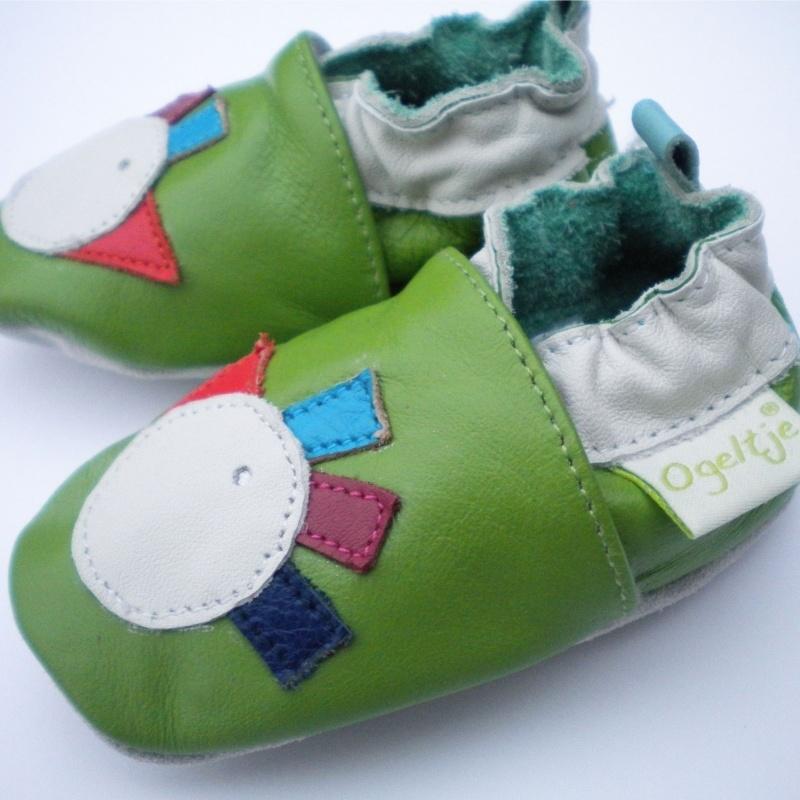 Babyslofjes groen