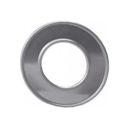 Afdekrozet 130 mm aluminium