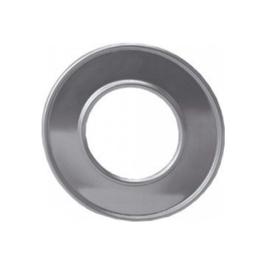 Afdekrozet 100 mm aluminium