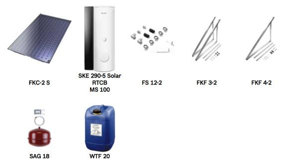 Junkers zonneboiler pakket FKC 6