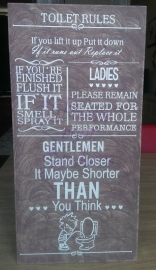 Toilet rules 22,5 x45 cm