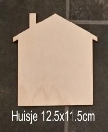 Huisje 12,5x11,5cm