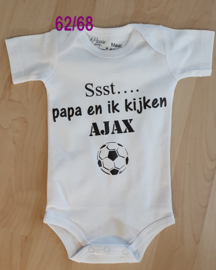 Romper Ssst Papa en ik kijken AJAX