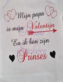 Mijn Papa is mjin Valentijn...kindertshirt