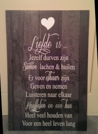 LIefde is..(behang)
