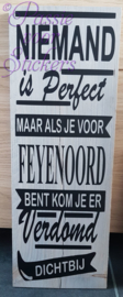 Niemand is perfect 19x55cm